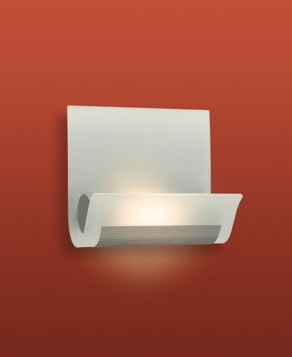 Firstlight WL228SS Satin Steel with Acid Glass Vetro Wall Light